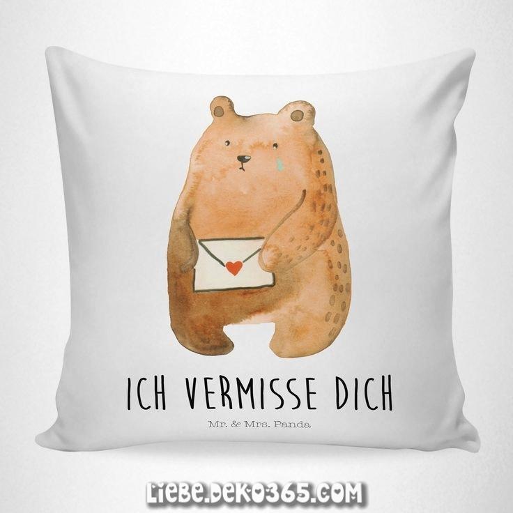 40xKissen Liebesbrief Soft-Feel Bear Flauschiger