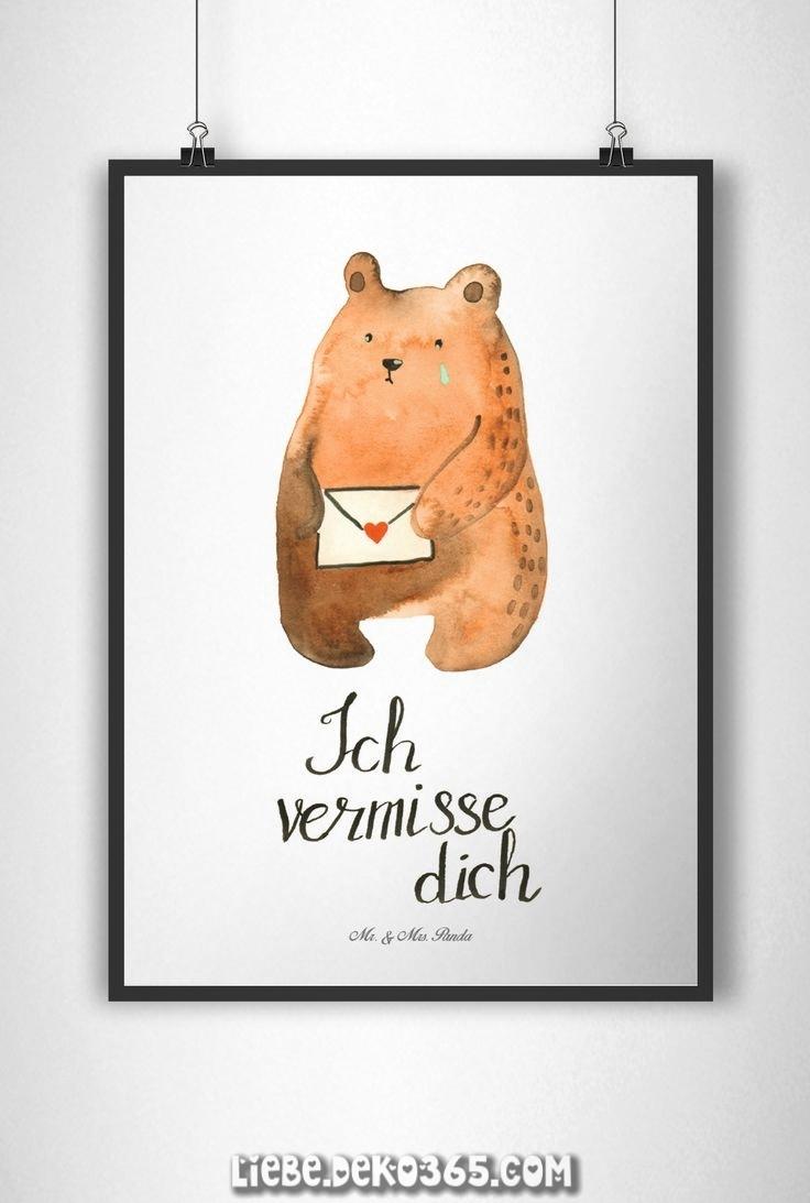Poster DIN A4 Liebesbrief Bärenpapier 1Gramm weiß
